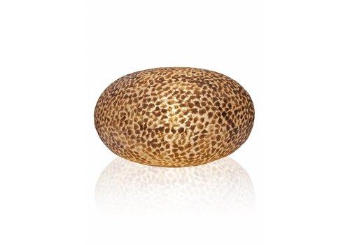 VillaFlor Tafellamp schelp Wangi Gold ufo 40 cm