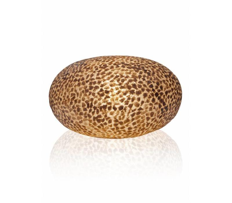 Tafellamp schelp Wangi Gold ufo 40 cm
