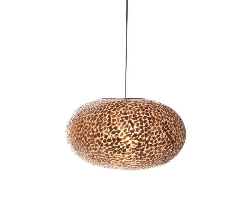 Hanglamp schelp Wangi Gold ufo 40 cm