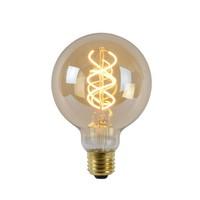 LED E27 globe 5 Watt gedraaid filament DIM