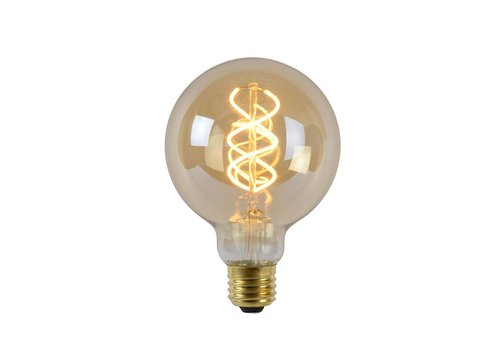 Lucide LED E27 globe 5 Watt gedraaid filament DIM