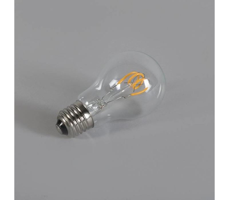 LED E27 lamp 3 Watt gedraaid filament