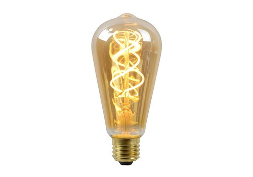 Lucide ST64 Fil. lamp-Amber-LED Dimb.-1xE27-5W-2200K