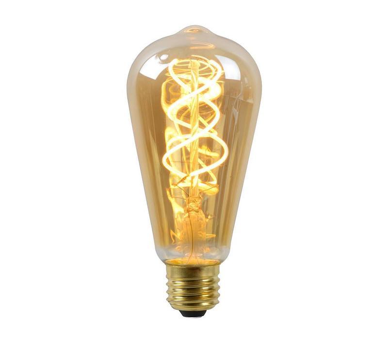 LED E27 lamp groot 5 Watt gedraaid filament DIM