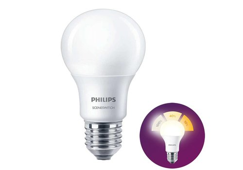 Philips LED E27 lamp 8 Watt Philips SceneSwitch DIM