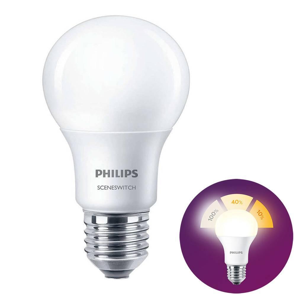 Philips LED E27 lamp 8 Watt Philips SceneSwitch DIM