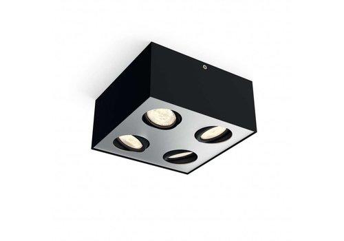 Philips Spot Box 4 lichts zwart