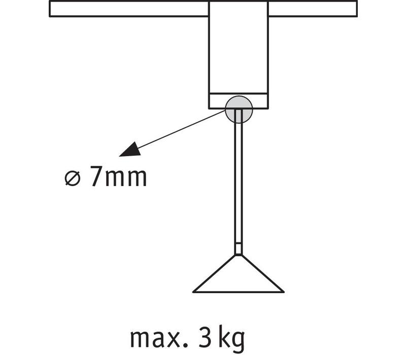 Hanglamp adapter alu