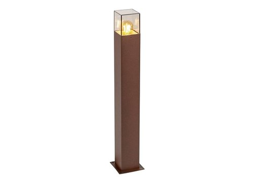 Lamponline Buitenlamp Cube staand bruin groot