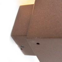 Buitenlamp Cube wand bruin
