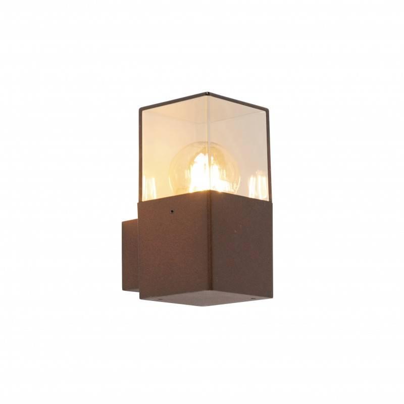 Lamponline Buitenlamp Cube wand bruin