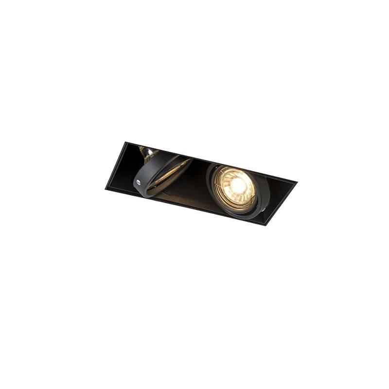 Lamponline Inbouwspot Bado 2 lichts Gu10 zwart Trimless