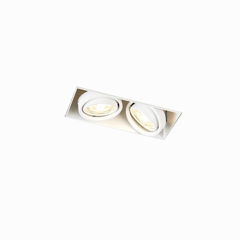 Lamponline Inbouwspot Bado 2 lichts Gu10 wit Trimless
