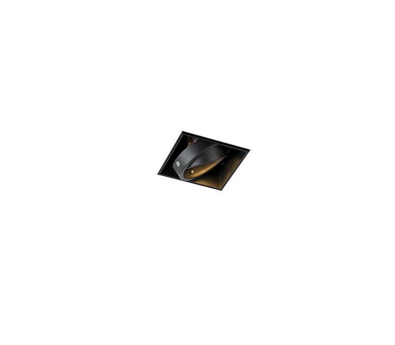 Inbouwspot Bado 1 lichts Gu10 zwart Trimless