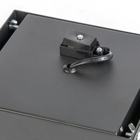 Inbouwspot Bado 1 lichts AR111 zwart Trimless