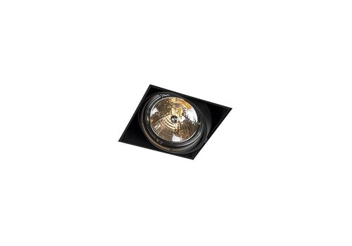 Lamponline Inbouwspot Bado 1 lichts AR111 zwart Trimless