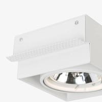 Inbouwspot Bado 1 lichts AR111 wit Trimless