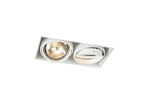 Lamponline Inbouwspot Bado 2 lichts AR111 wit Trimless