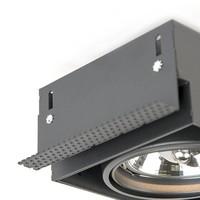 Inbouwspot Bado 2 lichts AR111 zwart Trimless