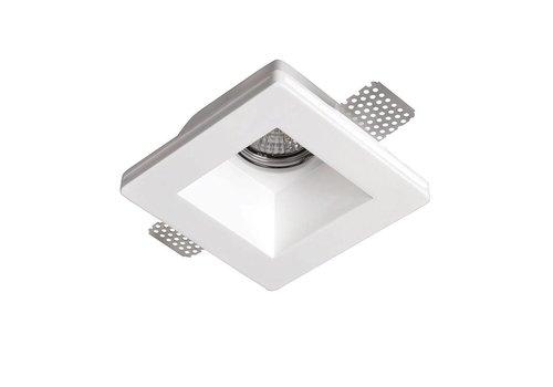 Artdelight Inbouwspot Badu 1 lichts vierkant Trimless gips