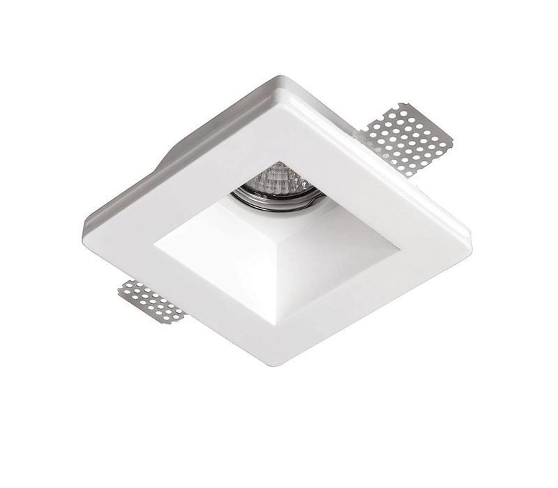 Inbouwspot Badu 1 lichts vierkant Trimless gips