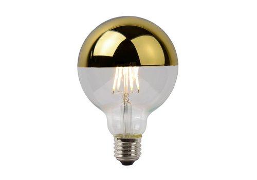 Lucide LED E27 globe 5 Watt kopspiegel goud filament DIM