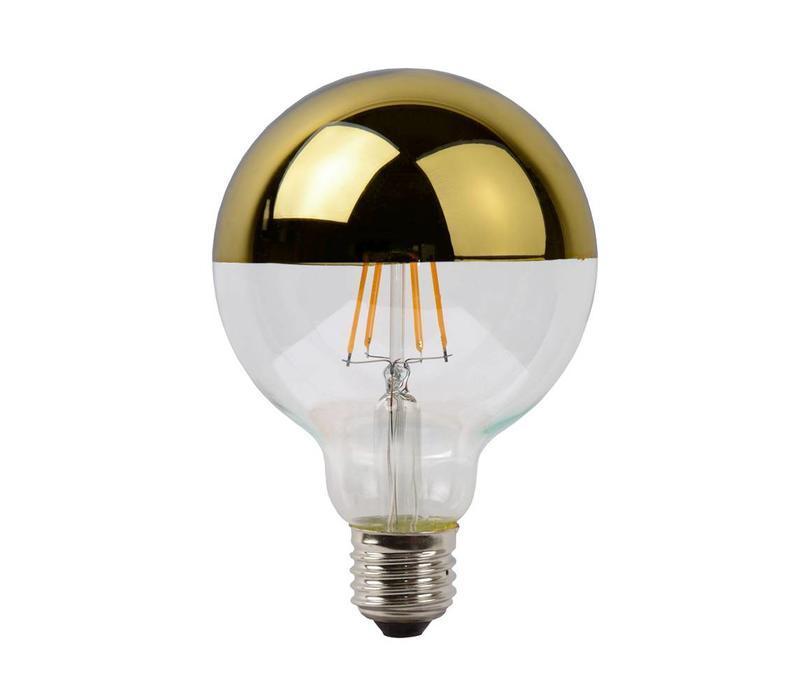LED E27 globe 5 Watt kopspiegel goud filament DIM