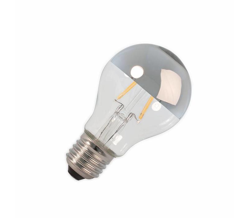 LED E27 lamp 4 Watt kopspiegel chroom filament