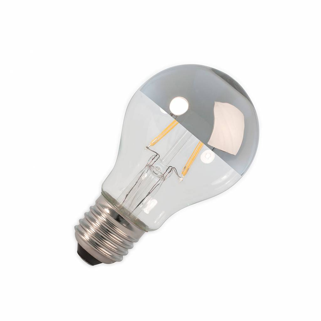 Calex LED E27 lamp 4 Watt kopspiegel chroom filament