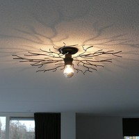 Plafondlamp Bichero Ø 60 cm zwart