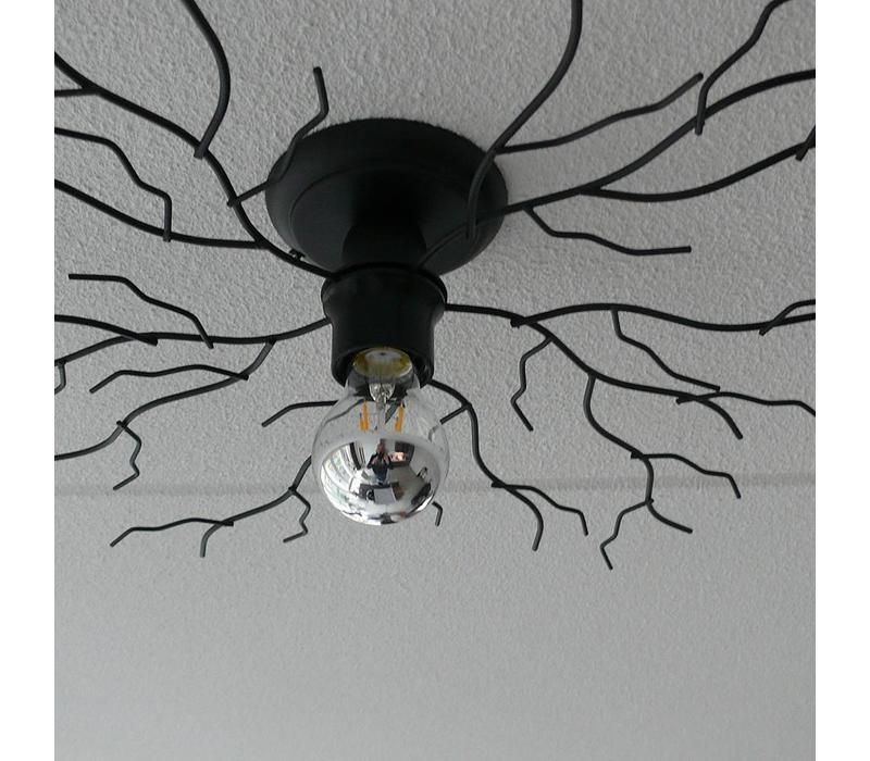 Plafondlamp Bichero klein zwart