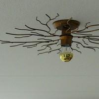 Plafondlamp Bichero Ø 60 cm goud-bruin