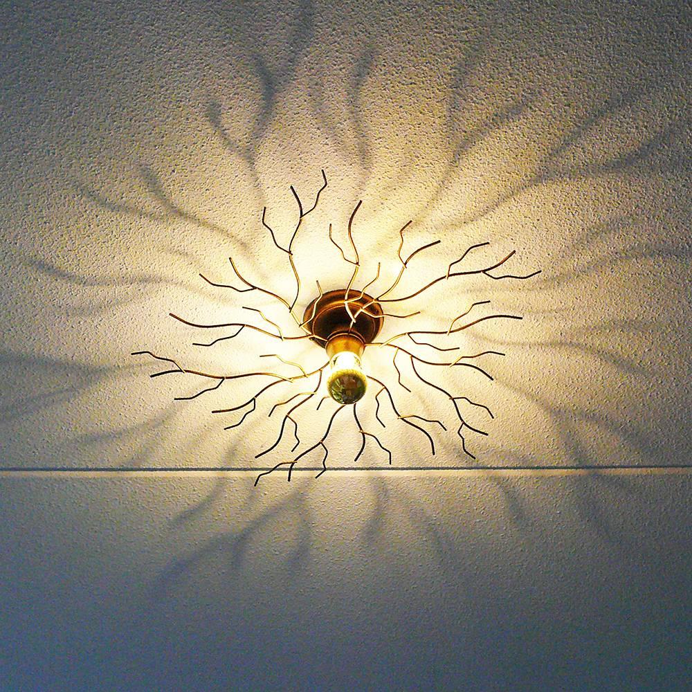 Ylumen Plafondlamp Bichero � 60 cm goud-bruin