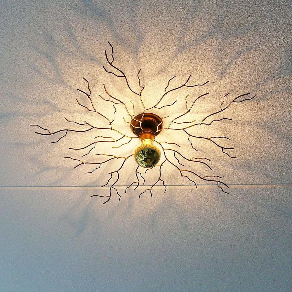Ylumen Plafondlamp Bichero Ø 80 cm goud-bruin
