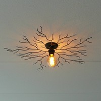 Plafondlamp Bichero Ø 80 cm zwart