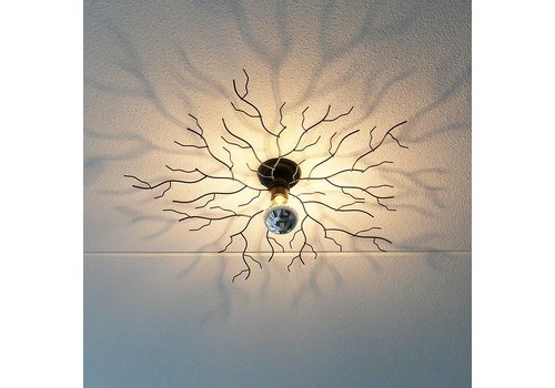 i-Lumen Plafondlamp Bichero Ø 80 cm zwart