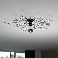 Plafondlamp Bichero groot zwart