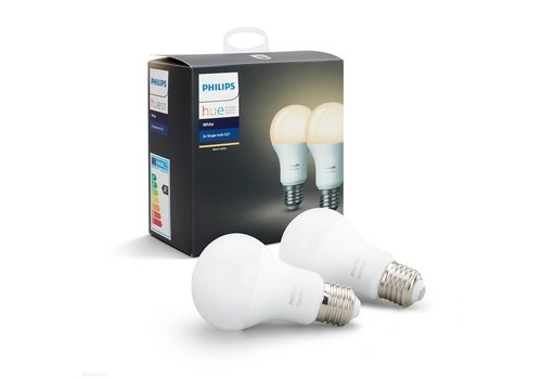 Philips HUE Lichtbron E27 White set van 2