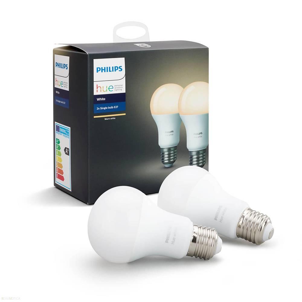 Philips HUE Lichtbron E27 White set van 2