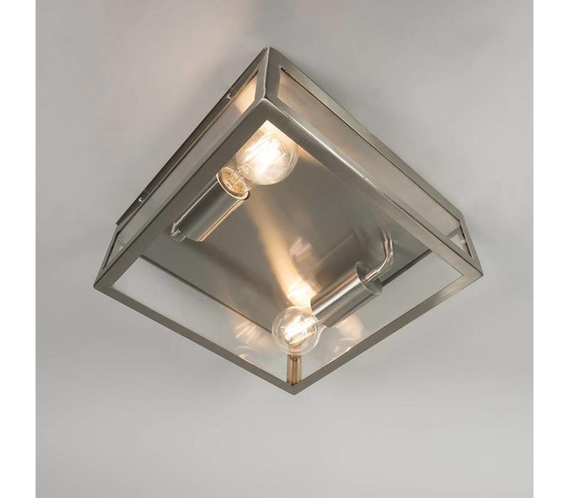 Buitenlamp Blaricum RVS plafond groot