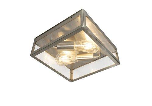 Lamponline Buitenlamp Blaricum RVS plafond groot