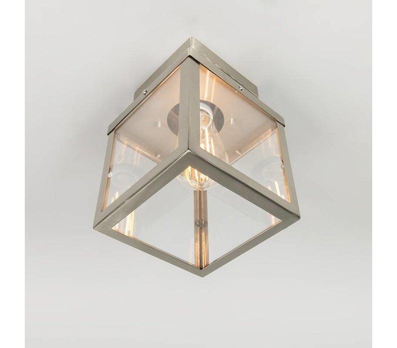 Buitenlamp Blaricum RVS plafond klein