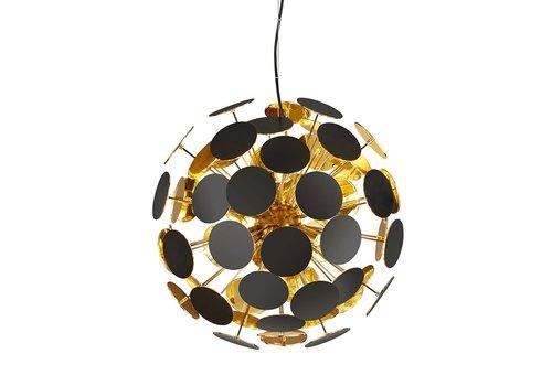 Trio Leuchten Hanglamp Discalgo zwart goud