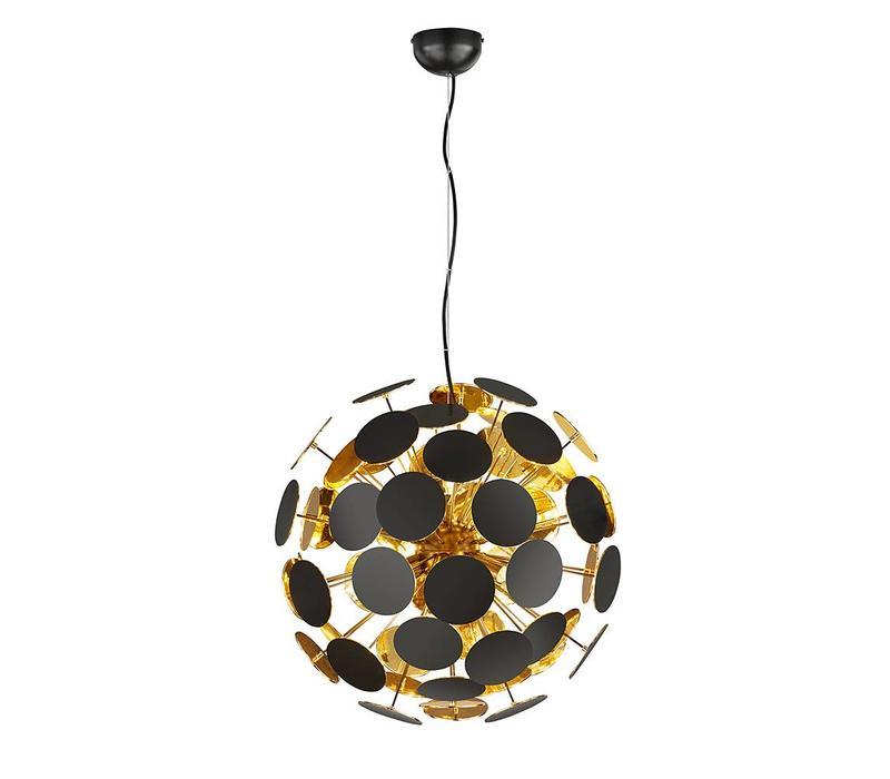 Hanglamp Discalgo zwart goud