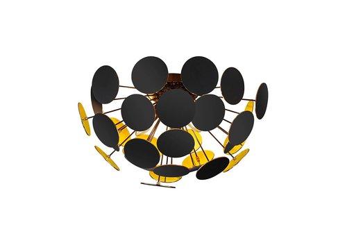 Trio Leuchten Plafondlamp Discalgo zwart goud