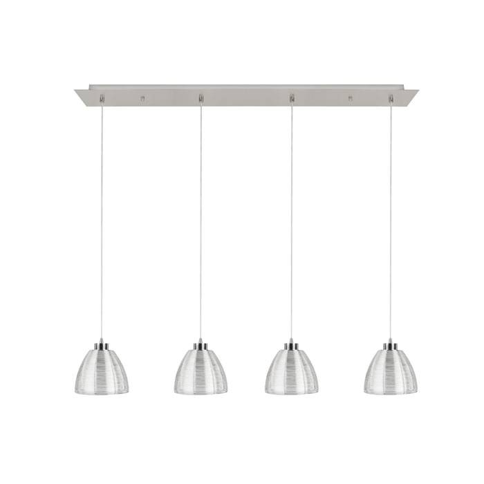 Highlight Hanglamp Whires Small Mat chroom 4 lichts
