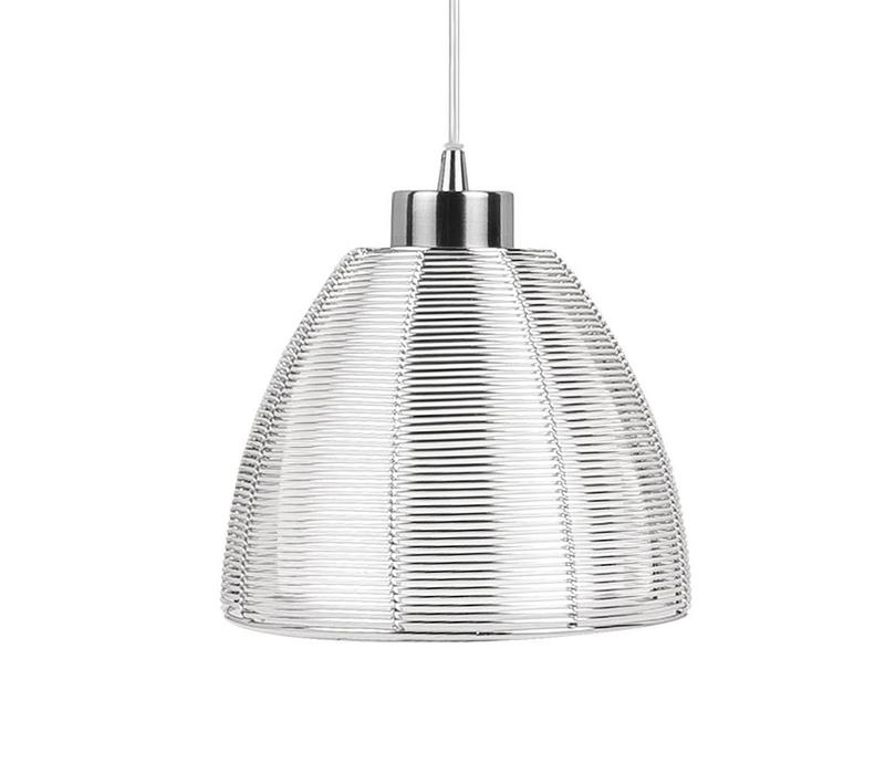 Hanglamp Whires Small Mat chroom 4 lichts