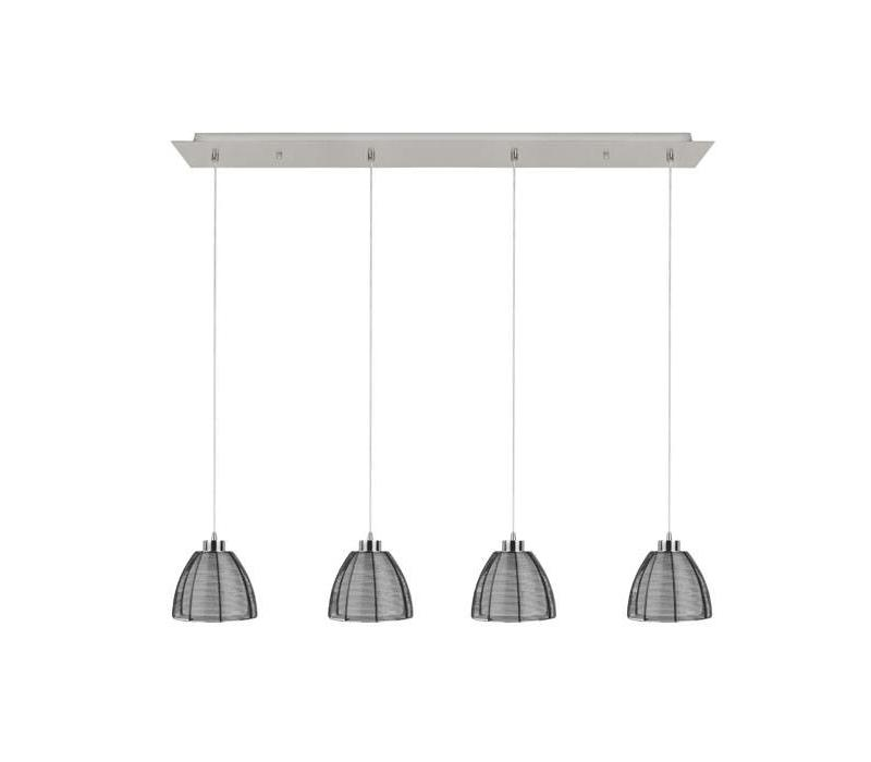 Hanglamp Whires Small zwart 4 lichts