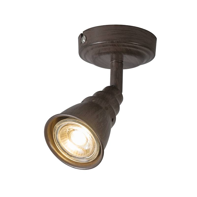 Lamponline Spot Riviera LED roest bruin 1 lichts