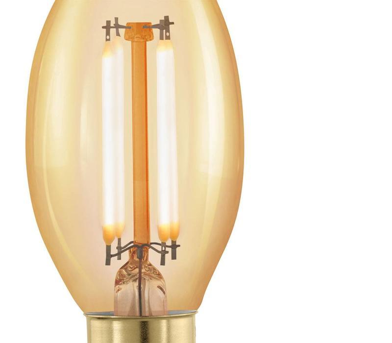 LED E14 tipkaars helder 4 Watt filament DIM